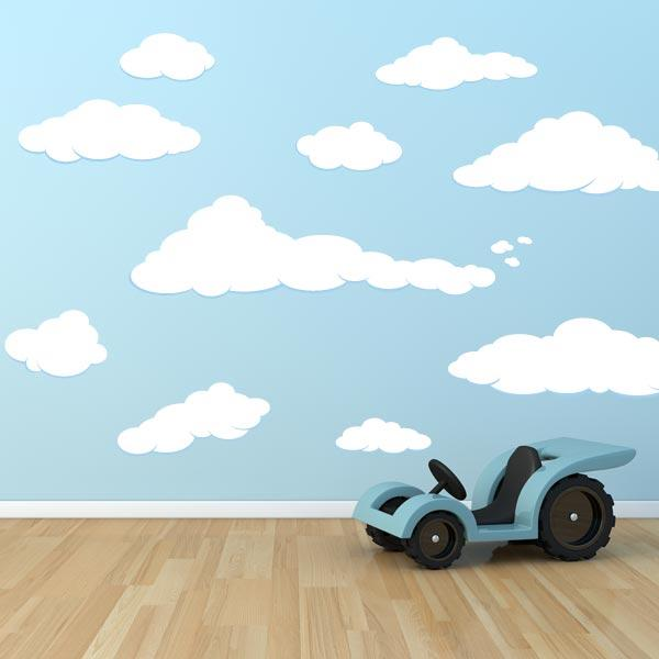 Cloud Decals Cloud Stickers For Walls Wall Decal World - Nursery wall decals clouds