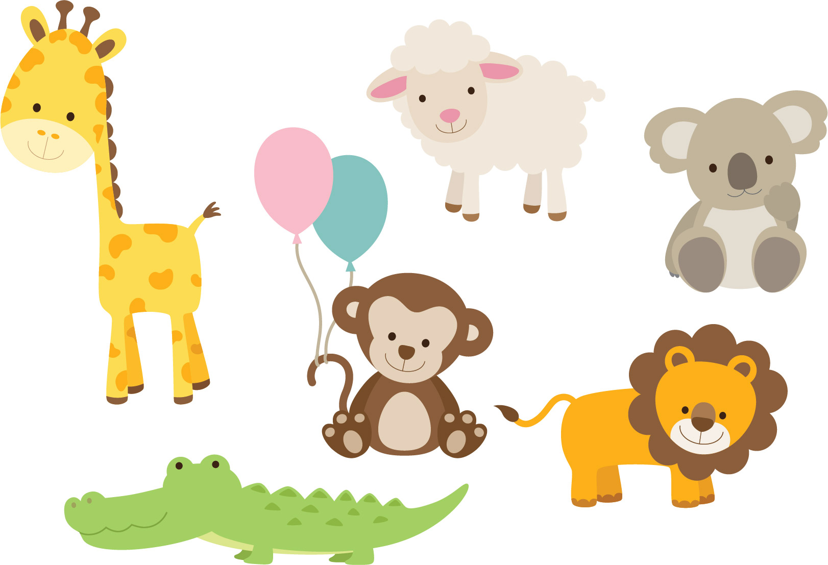 Nursery Zoo Animal Wall Decals