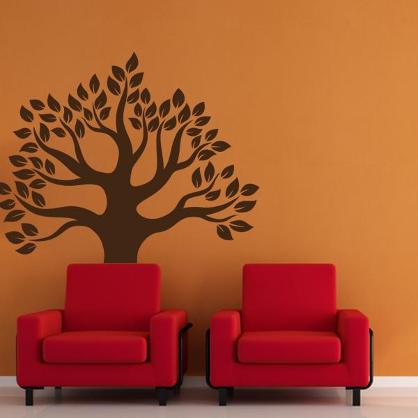 Nursery Tree With Leaves Wall Decal