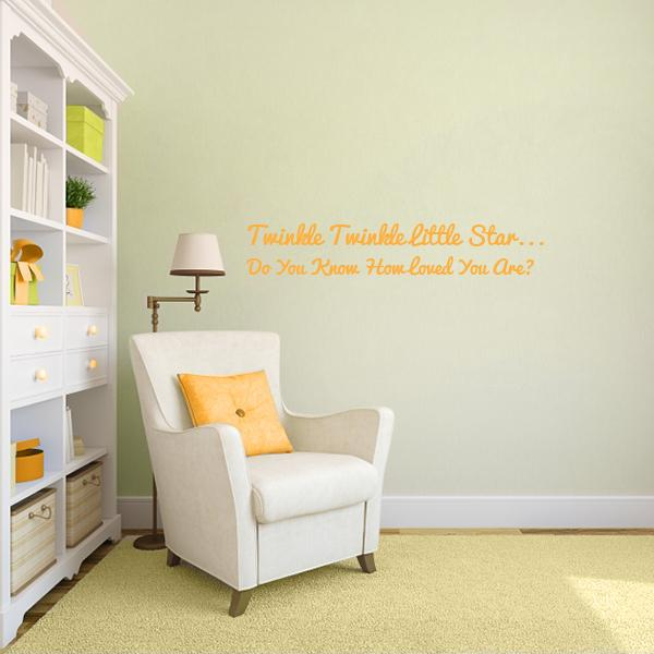 Twinkle Twinkle Quote Wall Decal