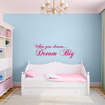 Dream Big Quote Wall Decal