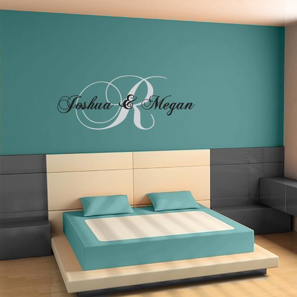 Couples Name Wall Decal