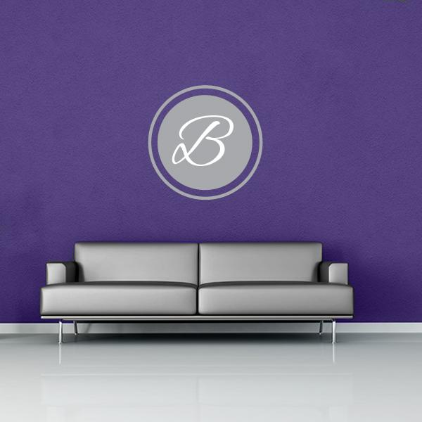 Initial in Circle Wall Decal