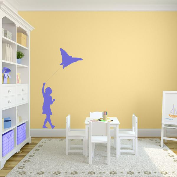 Girl With Kite Wall Decal