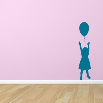 Girl with Balloon Wall Decal