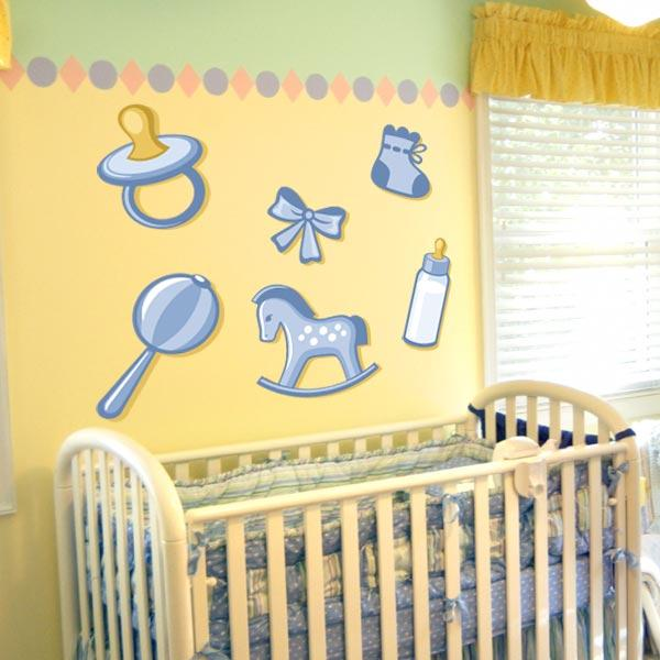 Baby Boy Wall Decals - Set of 6 | Wall Decal World