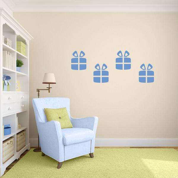Presents Wall Decals – Set Of 4