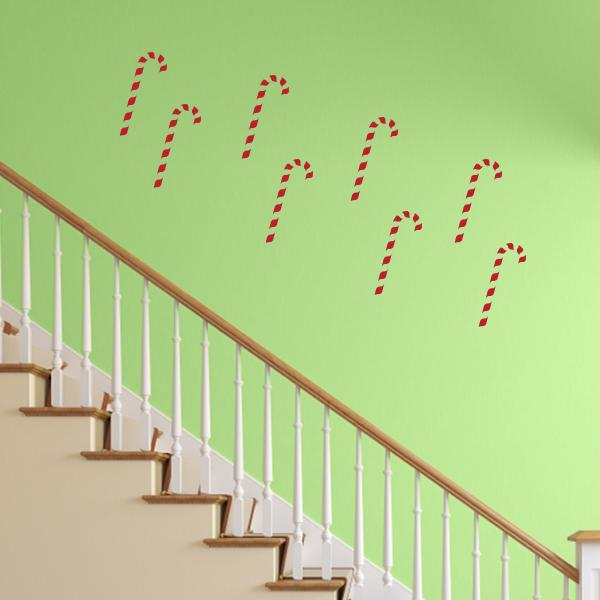 Candycane Wall Decals - Set of 8