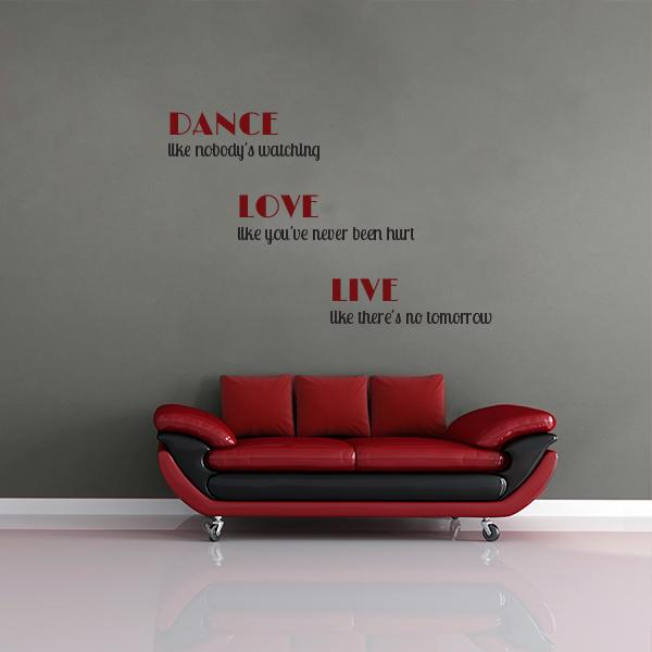 Dance Love Live Wall Decal
