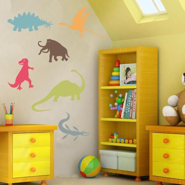 Dinosaur Wall Decals – Set Of 6