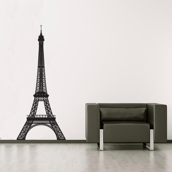pics photos stickers eiffel tower wall decal stickers