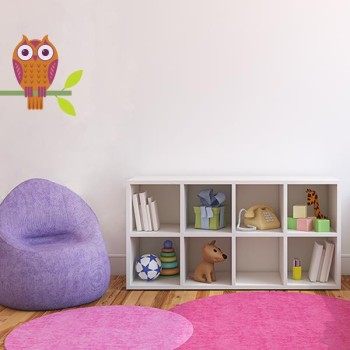 Owl Printed Wall Decal