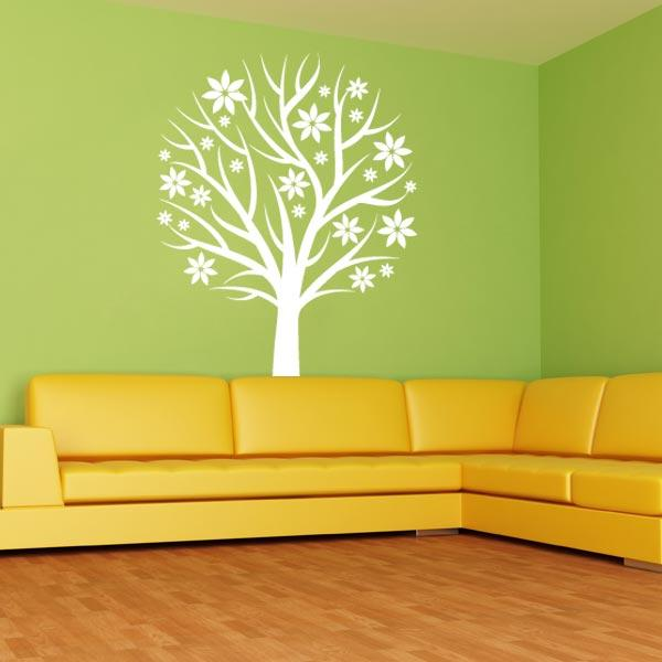 Nursery Tree With Flowers Wall Decal