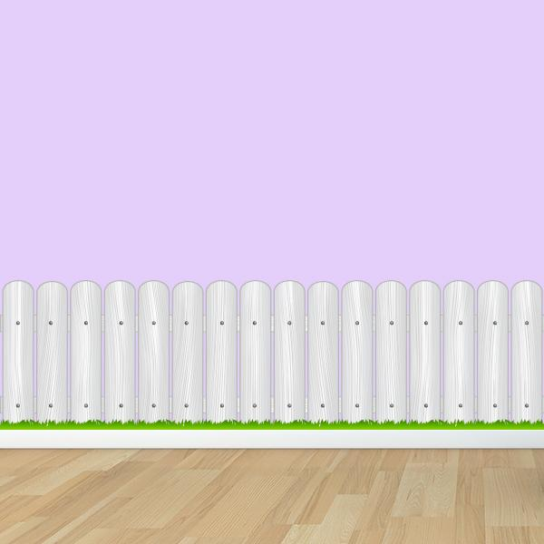 Wood Fence With Grass Wall Decal