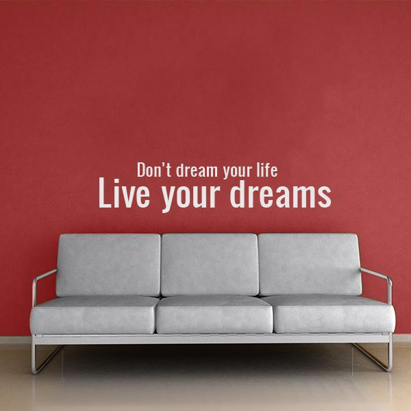 Live Your Life Quote Wall Decal