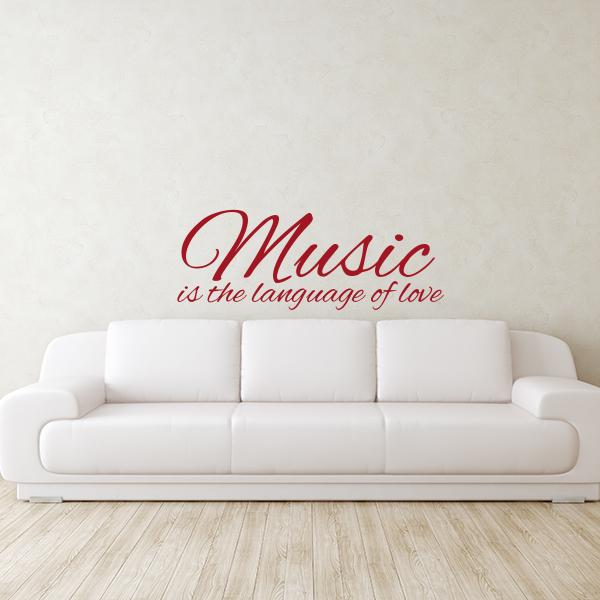 Music Love Quote Wall Decal Wall Decal World
