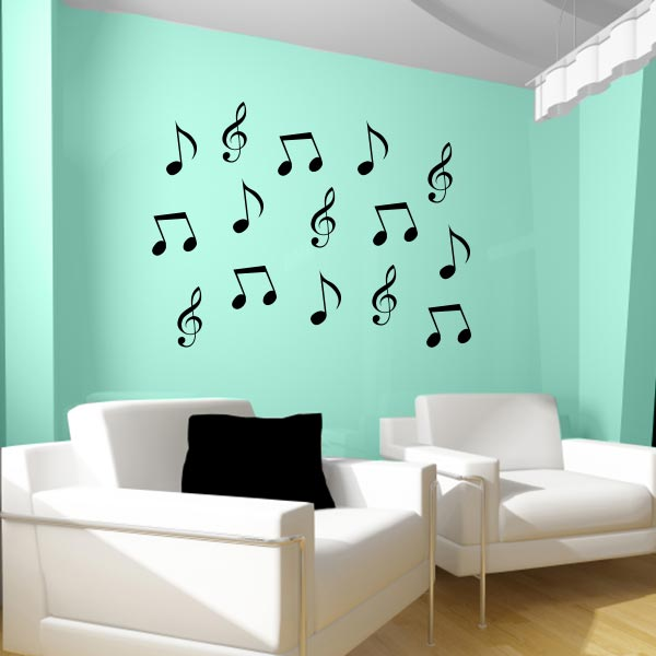 Music Note Wall Decals | Set Of 15