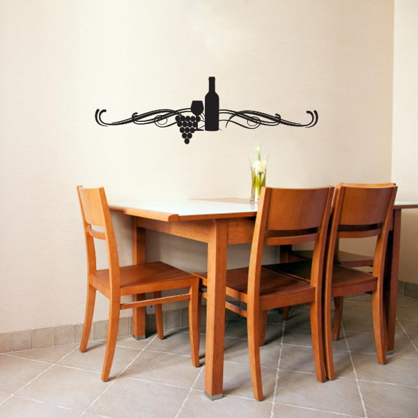 Wine Display Wall Decal