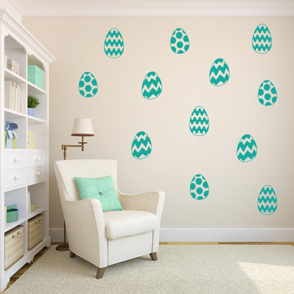 Easter Egg Wall Decal Set