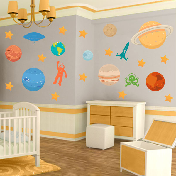 Outer Space Wall Decal Pack