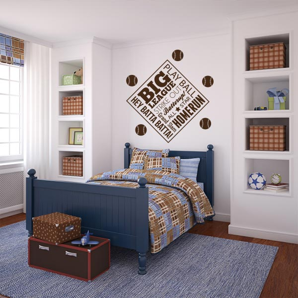 Baseball Blurb Wall Decal