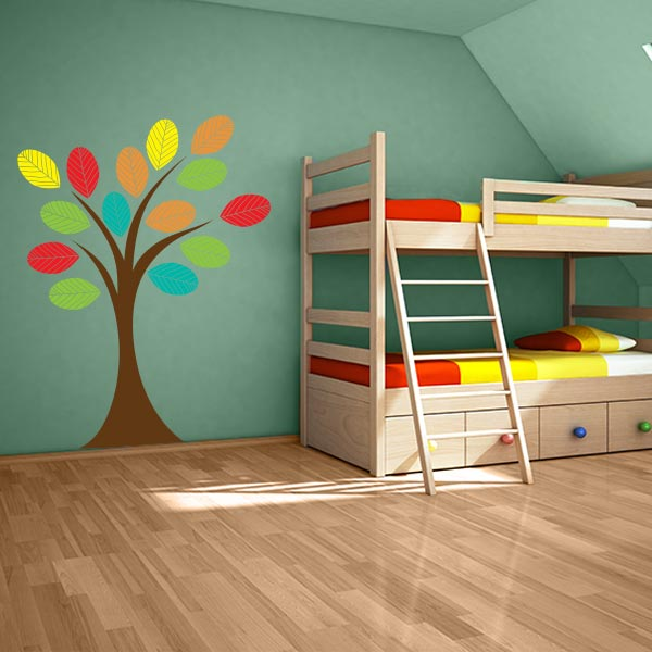 Nursery Tree With Colorful Leaves Wall Decal