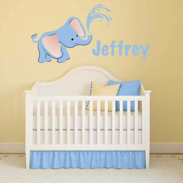 Personalized Printed Elephant Wall Decal