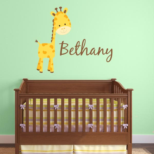 Personalized Giraffe Wall Decal
