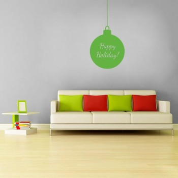 Happy Holiday Ornament Wall Decal
