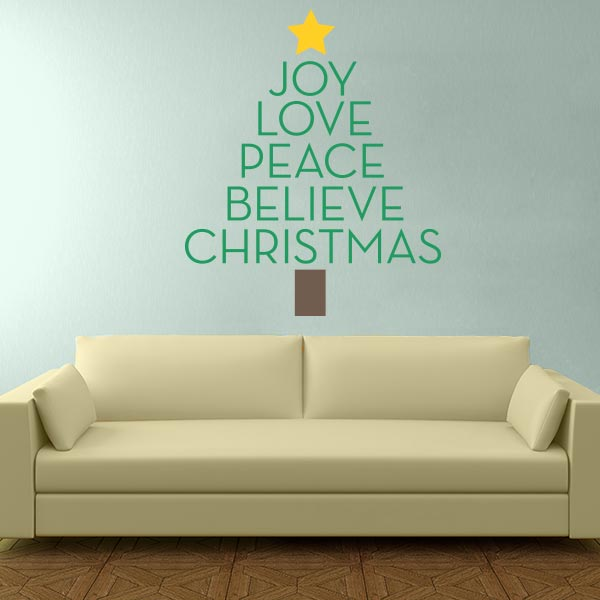 Christmas Expressions Tree Wall Decal