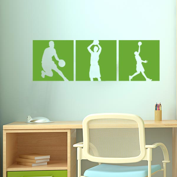 Basketball Silhouette Wall Decal Set