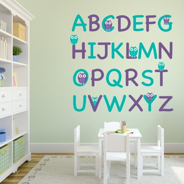 Owl Alphabet Wall Decal Set Part 52