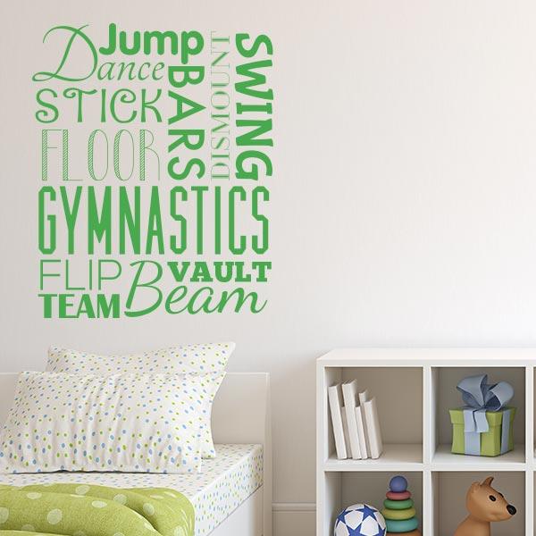 Gymnast Word Blurb Wall Decal Wall Decal World
