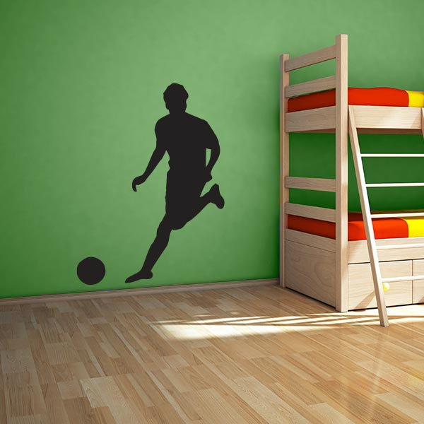 large soccer player wall decal wall decal world