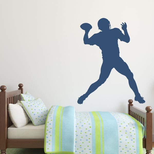 Large Football Player Wall Decal