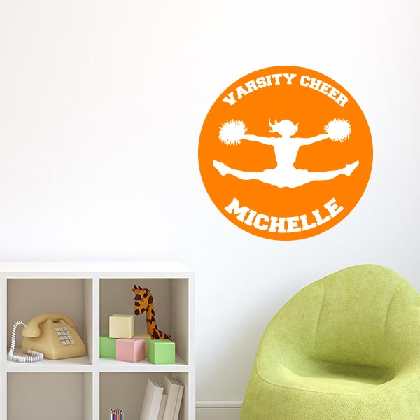 Personalized Varsity Cheer Wall Decal