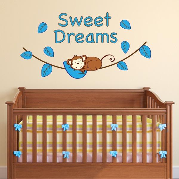 Etonnant Boy Sweet Dreams Monkey Wall Decal