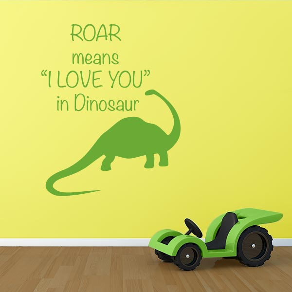 Dinosaur I Love You Wall Decal