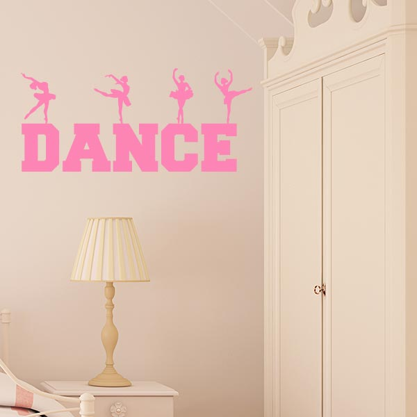 Dance Word Art Wall Decal