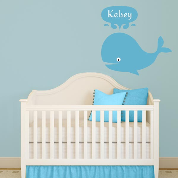 Personalized Whale Wall Decal ...