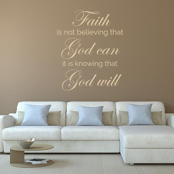 Faith Quote Wall Decal