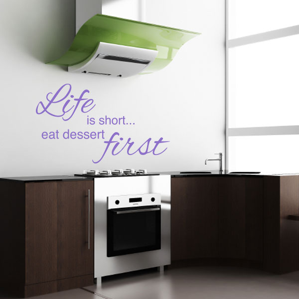 Life Is Short Quote Wall Decal