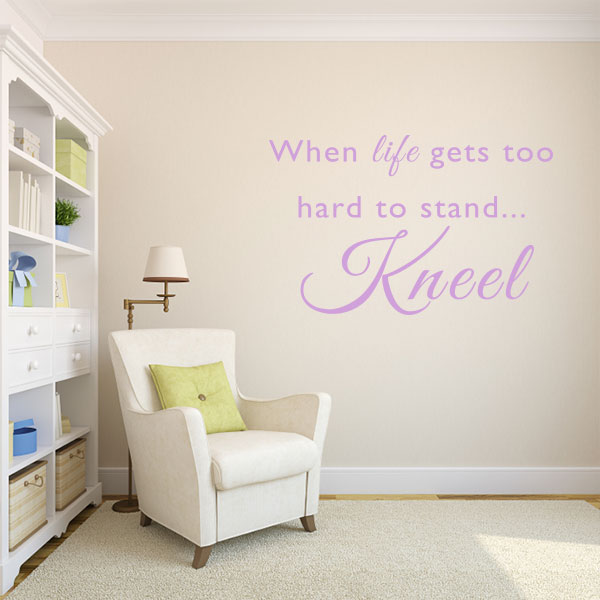 When Life Gets Hard Quote Wall Decal