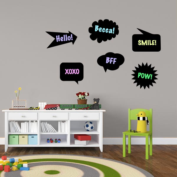 Chalk Speech Bubbles – Set Of 6