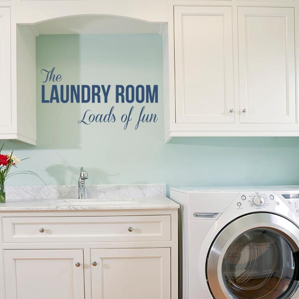 Laundry Loads Of Fun Wall Decal