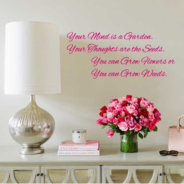 Flower Custom Quote Wall Decal